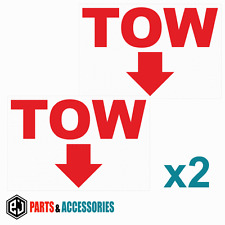 2x Red Tow Flecha Rally Motorsport JDM carreras coche de parachoques Stickers Vinyl Decals