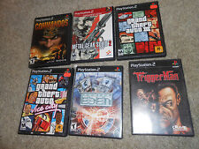 Lot of 6 PS2 PlayStation 2 Games Commandos GTA Project Eden More