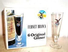 6 Fernet Branca Fratelli Mailand Italian Shot Glasses in Box