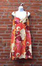 Nanette Lepore Dress Size 10 Womens Tank Tropical Floral Print Silk Linen (979)