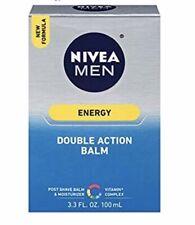 NIVEA FOR MEN Energy, Double Action Post Shave Balm & Moisturizer 3.3oz (3 Pk)