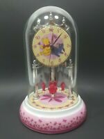 Disney Winnie The Pooh Eeyore Anniversary Clock Porcelain Base/Dial w/Glass Dome
