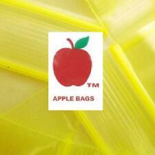 Yellow 1000 Apple Brand Baggies 1510 2mil Ziplock 1000 Plastic 15x1 Mini Bag