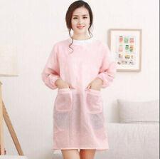 Kitchen Adult Unisex Long-sleeved Aprons Anti-wear Waterproof Oil-proof Apron