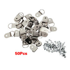 50 Pcs Medium D-Ring Picture Frame Strap Hangers with Screws AD
