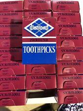 Diamond Wooden Wood Toothpicks Case Of 24