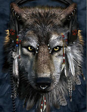 Stylish Wolf Lenticular 3D Picture Animal Poster Painting Home Wall Art Decor