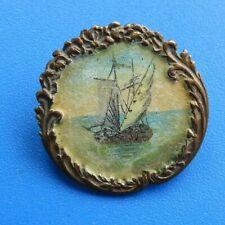 """#9161# Vintage: ancien insigne """"bateau voilier""""/ s/n"""