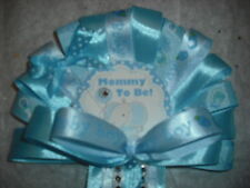 Blue Baby shower corsage Elephant Jungle corsage for mommy and daddy to be