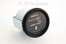Engine Hour Counter Gauge With Led 10 - 28 Volt  52mm