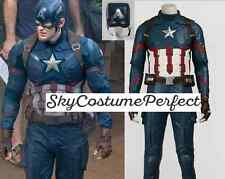 FREE SHIP Civil War 2016 Movie Captain America 3 Steve Rogers costume Cosplay