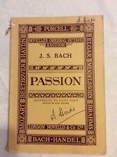 Vintage-Novello's Original Octavo Edition. J. S. Bach. Passion