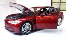 Alfa Romeo Giulia 1:24 Echelle 2017 Moulage Sous Pression Détaillé Modèle 21080
