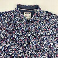 Thread & Cloth Button Up Shirt Men's 2XL XXL Long Sleeve Floral Print Cotton