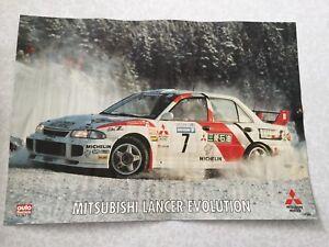 Poster Mitsubishi Lancer Makinen Swedishi Rally 1996 Paris Dakar 1997