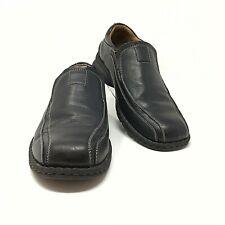 Dockers Men's 10.5 M Black Leather Slip On Shoes  Pro Style Shoes