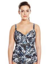 NWT $110 Robyn Lawley Bond-eye UW Bra Tankini Top Swimsuit Women's Plus Size 24W