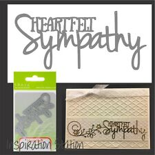 Heartfelt Sympathy metal die - Tonic Studios cutting dies 1249E words,phrases