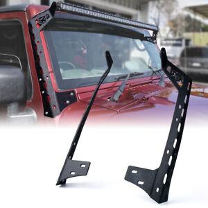 """A-Pillar Windshield 50"""" Light Bar Mount Brackets for 07-18 Jeep Wrangler JK JKU"""