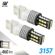 Syneticusa 3157 LED 6000K White DRL Reverse Turn Signal High Power Light Bulbs