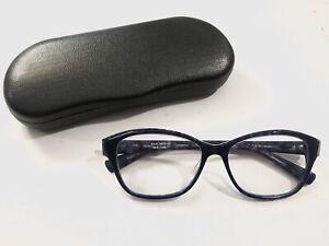 ISAAC MIZRAHI New York Rx Eyeglasses Colbalt Blue 52-15-135 Frame & Hard Case