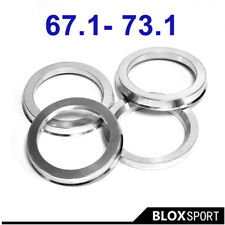 Aluminum Ring CB67.1-73.1 Wheel Ring 4 Pieces for Mazda Protege Protege 5 RX8 V6