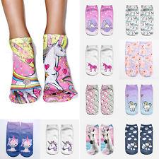 BONITO 3d Estampado Unicornio mujer niña calcetines tobilleros Ropa