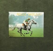 BOOKLET ROLEX DATE JUST ANNO 1988 ENG