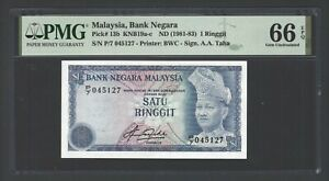 Malaysia One Ringgit ND(1981-83) P13b Uncirculated Grade 66