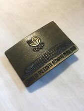 Vintage 1988 Olympics Brass Metal Belt Buckle Team USA Swirl Seoul Korea 88