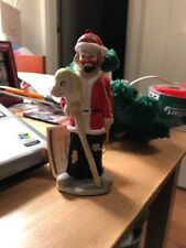 1984 Emmett Kelly Jr Santa Clown Figurine By Flambro With You Horse Read Descrip