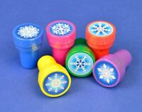 Pack of 6 - Snowflake Stampers - Frozen Craft Party Bag Fillers