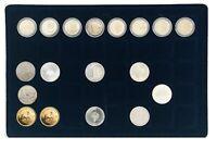2x Leuchtturm 302392 Münztableaus 40 Fächer 33mm Für 2 Euro in Kapseln & 10-20 €