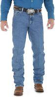 Wrangler Men's Premium Performance Cowboy Cut Regular Fit Jean, Stonewash, 42x32