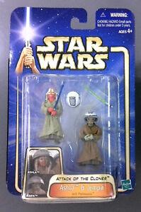 Star Wars Attack of the Clones Jedi Padawans ASHLA & JEMPA - Hasbro 2002 - NIP