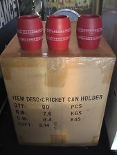 """NEW"" BULK BUY, BOX OF 80 x CRICKET BALL STYLE STUBBY , CAN , BOTTLE HOLDERS"