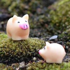10pcs Miniature Small Piggy Pig Terrarium Figurine Fairy Garden Ornament DIY