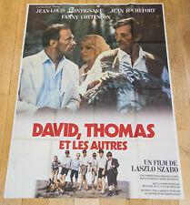 DAVID, THOMAS ET LES AUTRES Affiche cinéma 120X160 SZABO, ROCHEFORT, TRINTIGNANT