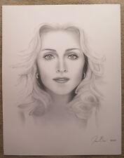 Artist Jason Boone Madonna 24 x 19 Charcoal Pencil Print Poster Black White