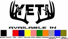 Yeti Cooler Vinyl Window Decal Sticker 4 Inch Deer Antlers Buy 2 Get 1 FREE