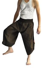Yoga Massage Trousers Fisherman Pants Unique for Men, Northern Thai Style cotton