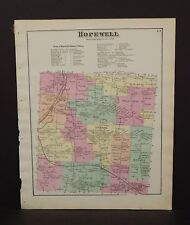 New York  Ontario County Map Hopewell Township 1874 W15#27