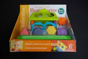 Infantino Animal Park Block Shape Sorter Toy New in box