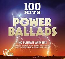 100 HITS-POWER BALLADS NEW+E DIGIPACK EDITION (BOSTON, STEPPENWOLF,...) 5 CD NEW
