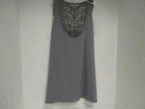 Vassarette Women's 17056 Lacy Back Camisole Tiffny Silver Size Small  New!!!!