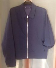 LOUIS VUITTON MENS $1700 NAVY SILK / COTTON REVERSIBLE BOMBER JACKET SZ.50 NWTAG