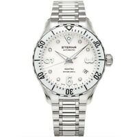 ETERNA 1280.41.66.1733 Women's Lady KonTiki Diver White Automatic Watch
