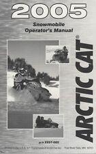 2005 ARCTIC CAT SNOWMOBILE OPERATOR'S MANUAL P/N 2257-085 (591)