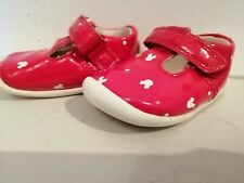 Baby Girls shoes clarkes red mickey mouse vgc Sz 3G