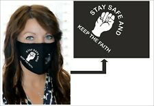 Vinyl Northern Soul Logo on a Face Mask 'Stay Safe And Keep The Faith'
